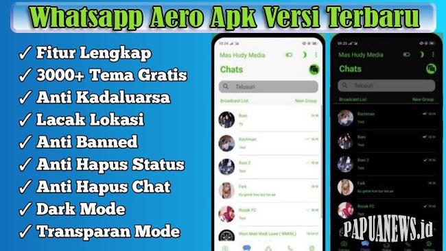 Download Whatsapp Aero Apk ( WA Aero) Mod Versi Terbaru 2021