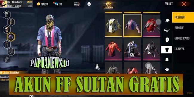2500+ Akun FF Sultan Gratis Full Skin Asli No Tipu 2021 (Login FB)