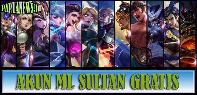 1000+ Akun ML Sultan Gratis Full Skin 2021 Asli No Tipu (Masih Aktif)