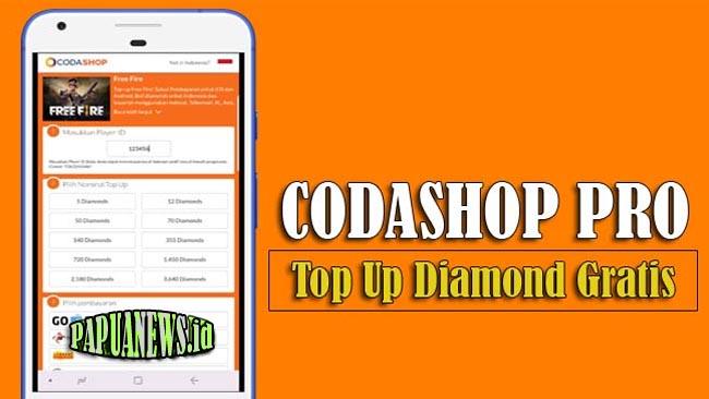 Codashop Pro Apk FF dan ML Top Up Diamond Gratis Terbaru 2021