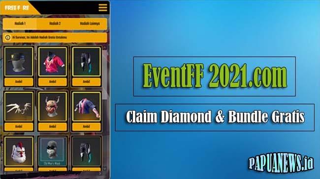 EventFF 2021.com Claim Diamond, Skin Senjata dan Bundle Gratis