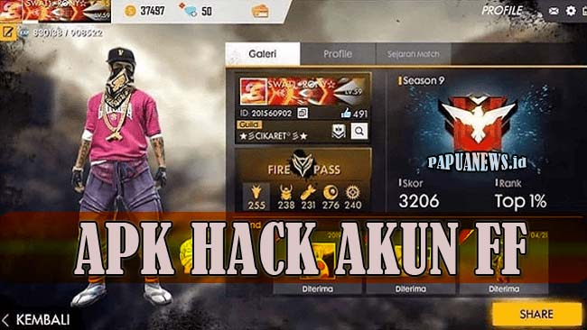 Apk Hack Akun FF Free Fire Versi Terbaru 2021 [No Password]