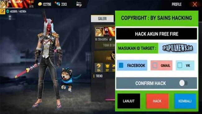 Sains Hacking Apk VIP Hack Akun FF Terbaru 2021 [Tanpa Password]