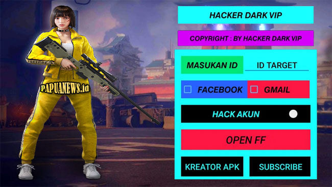 Hacker Dark VIP FF Mod Apk Versi Terbaru 2021 [Work 100% ]